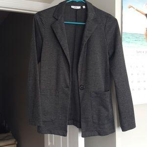 Gray and Black Dress Jacket